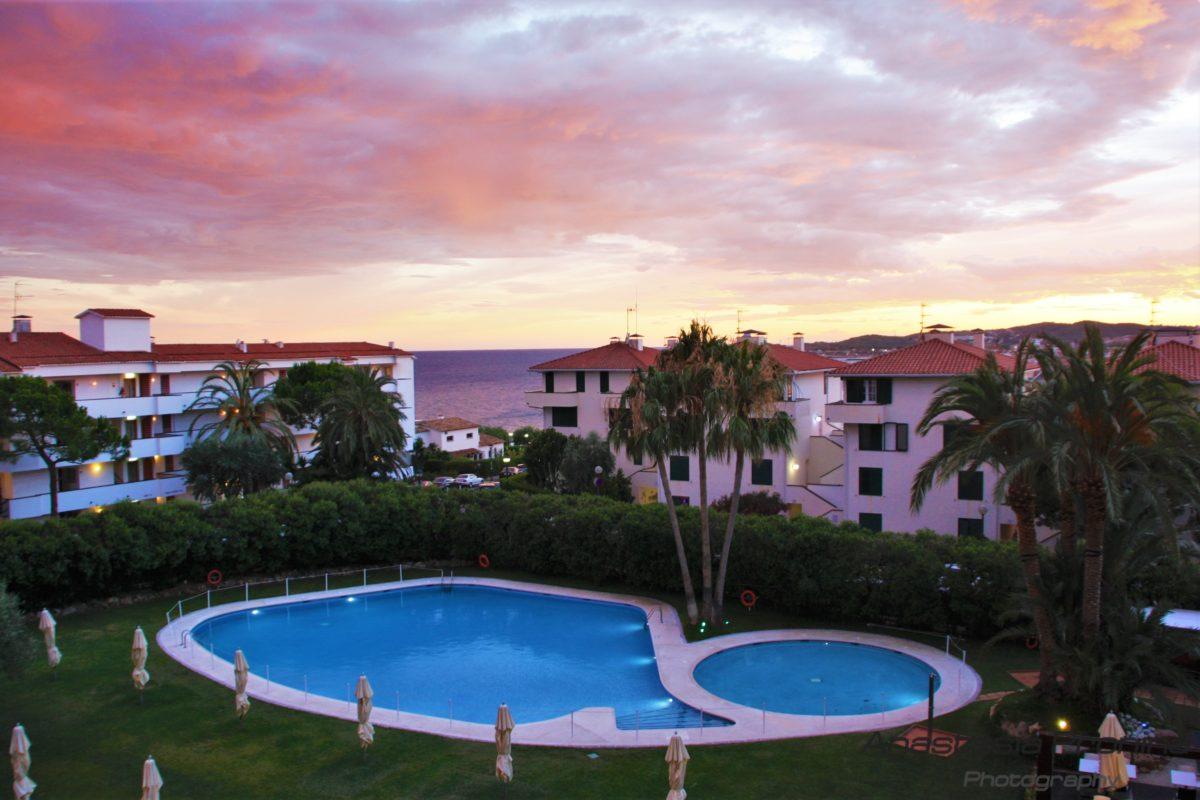 Hotel Melia Sitges, закат