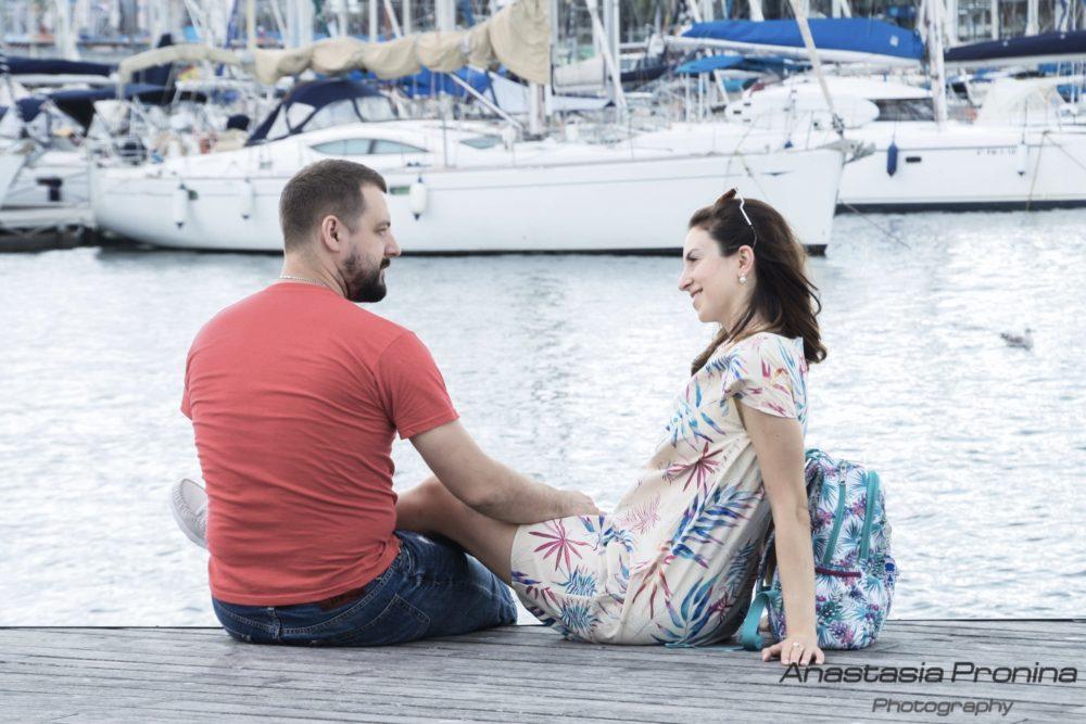 Фотосессия Love Story в порту Барселоны